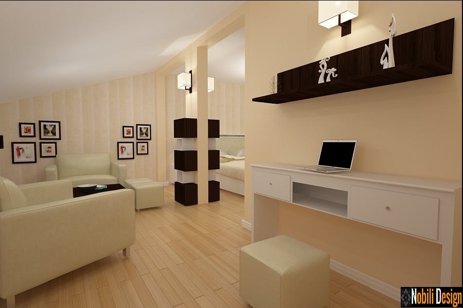 Design - interior - mansarda - casa - Bucuresti - Pipera