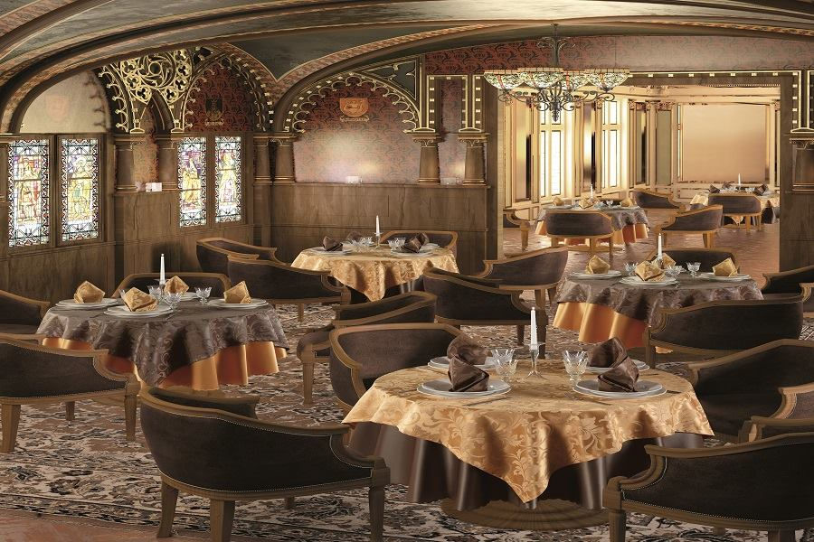 Restaurant interior design planting classic style for Classic cafe interior designs