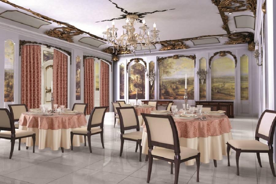 Restaurant interior design planting classic style for Interior designer a roma