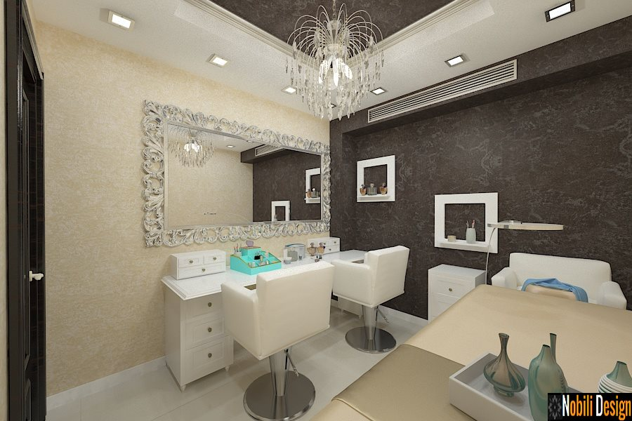 design interior salon infrumusetare Make up Bucuresti
