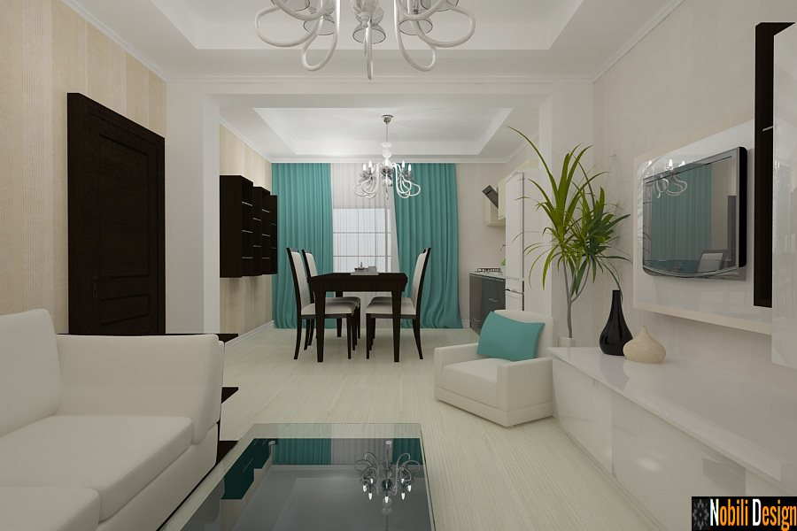 Design interior living dormitor vila moderna for Casa moderna living