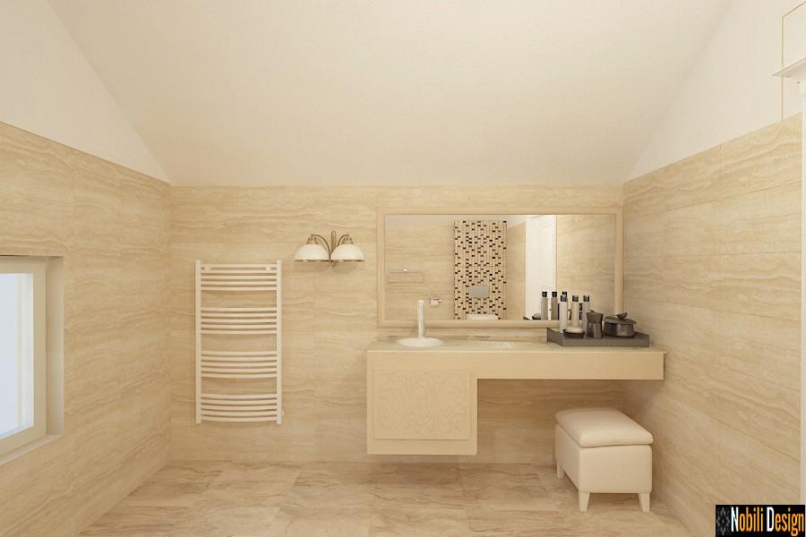 amenajare baie casa cu mansarda | Design interior baie mansarda.