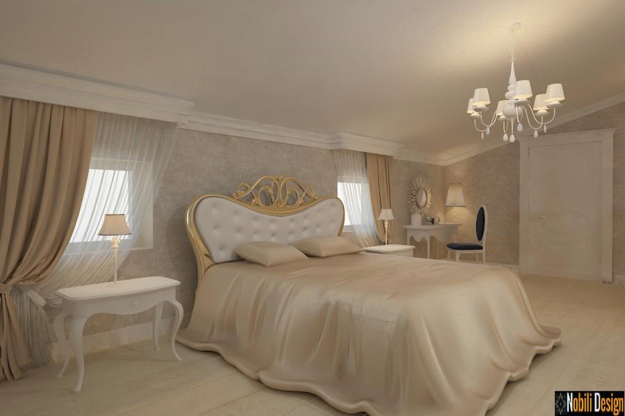 Design interior casa cu mansarda Constanta | Amenajare dormitor mansarda Constanta.