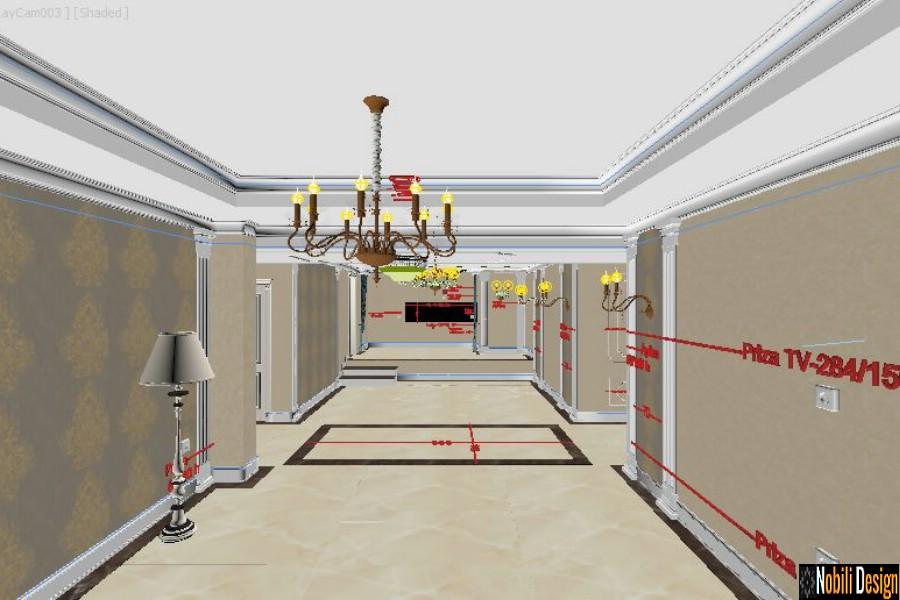 Schite proiect design interior casa Prahova.