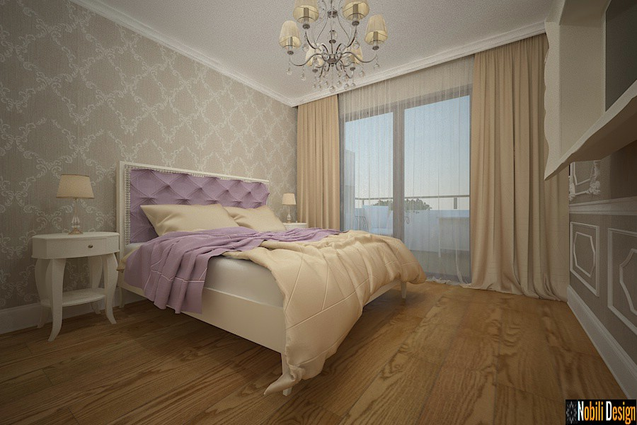 design interior dormitor casa cu mansarda pitesti arges | Amenajari interioare case clasic de lux.