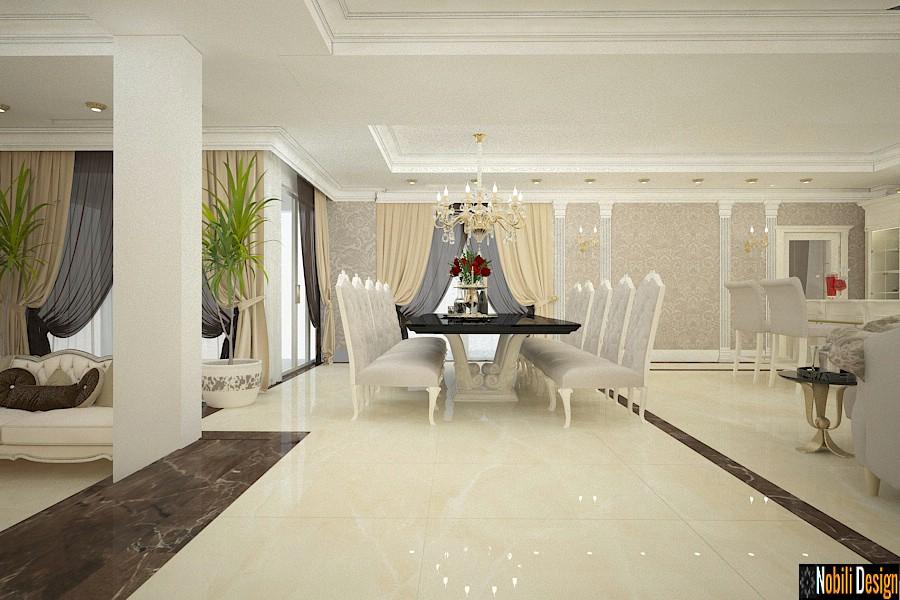 design interior dining casa clasica de lux | Arhitect designer interior pret Prahova.