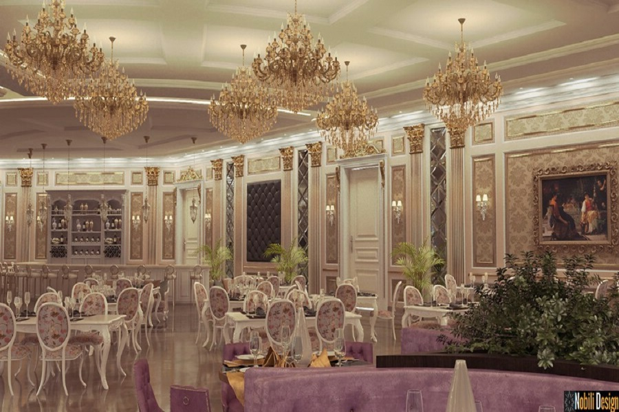 Design interior salon evenimente - Amenajare interioare salon nunti.