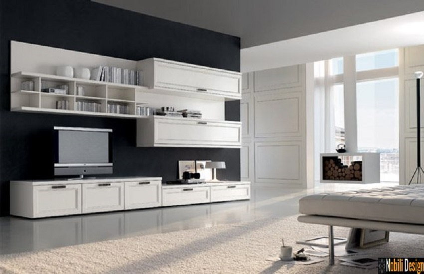 mobila living clasic modern parete italia nobili