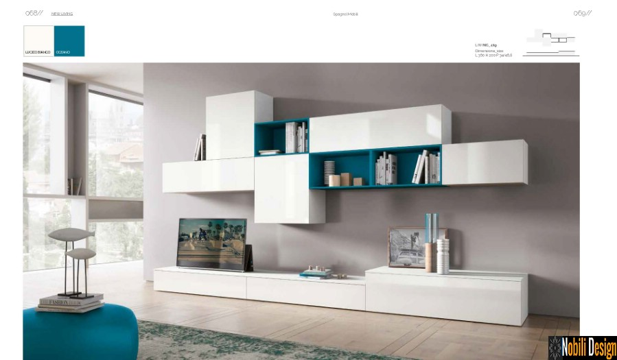 mobila living moderna vega italia nobili interior