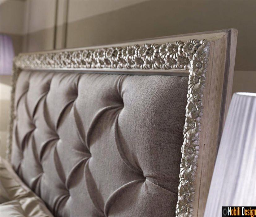 mobilier dormitor pat lemn tapitat italia meteora