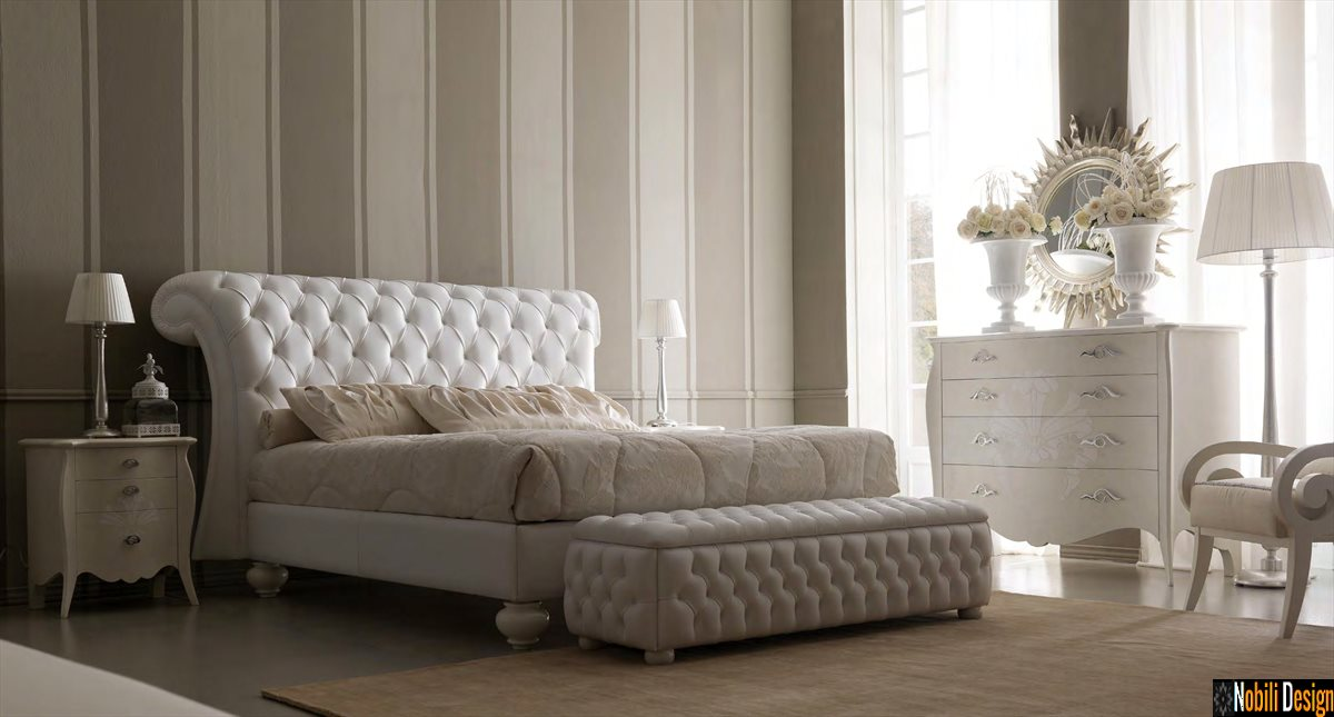 mobilier dormitor pat tapitat de lux italia preturi
