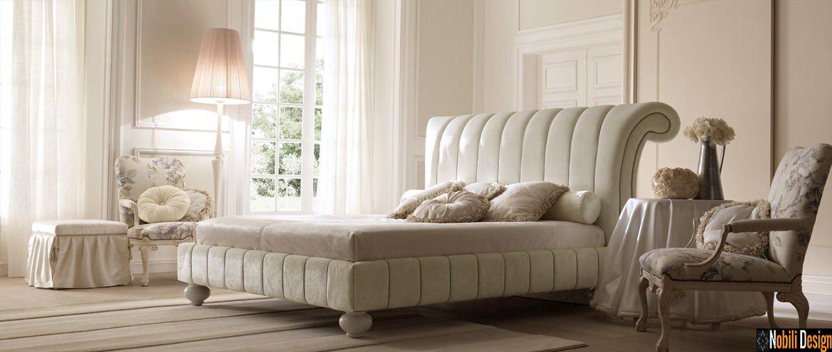 mobilier dormitor pat tapitat italia