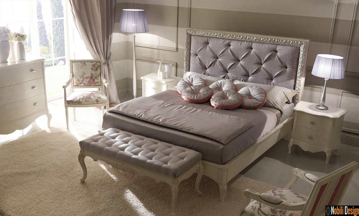 mobilier pat dormitor tapitat italia meteora