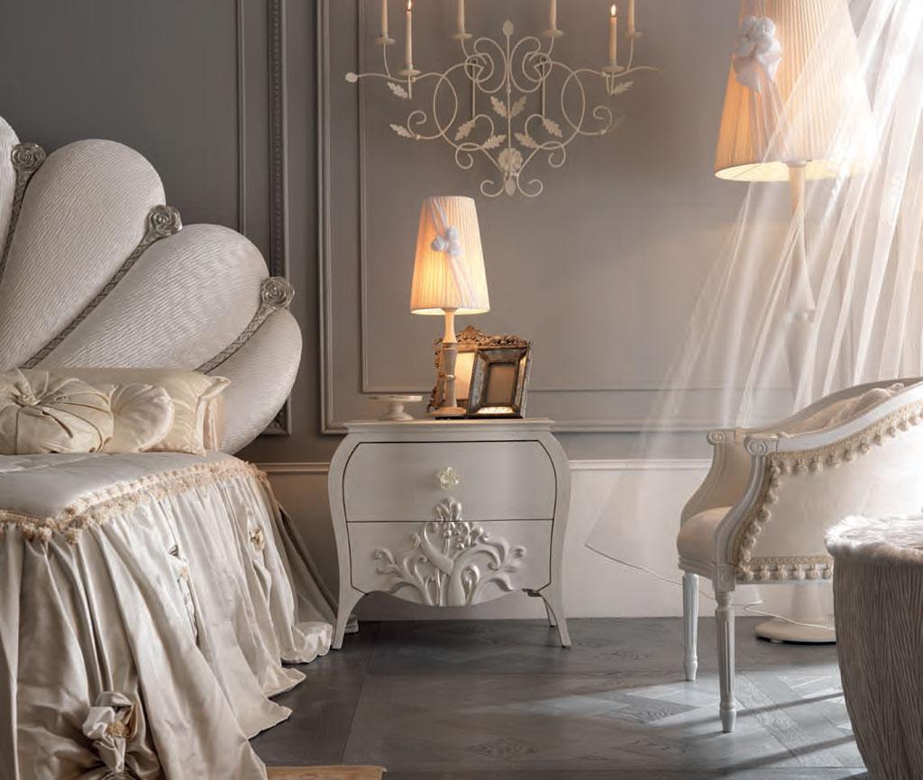 noptiera pat dormitor tapitat de lux capri meteora italia