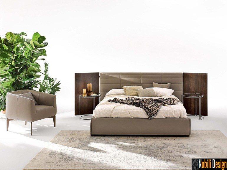 pat tapitat dormitor stofa piele GRANDANGOLO Ditre Italia 01