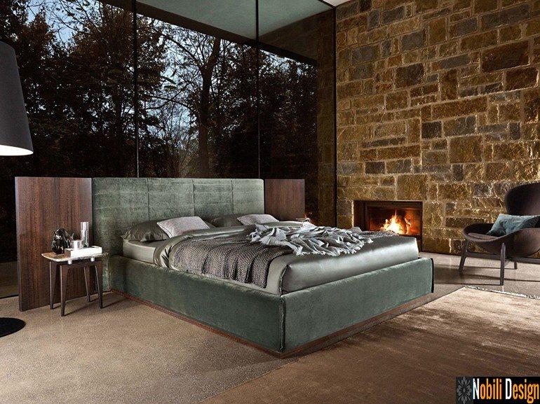 pat tapitat dormitor stofa piele GRANDANGOLO Ditre Italia