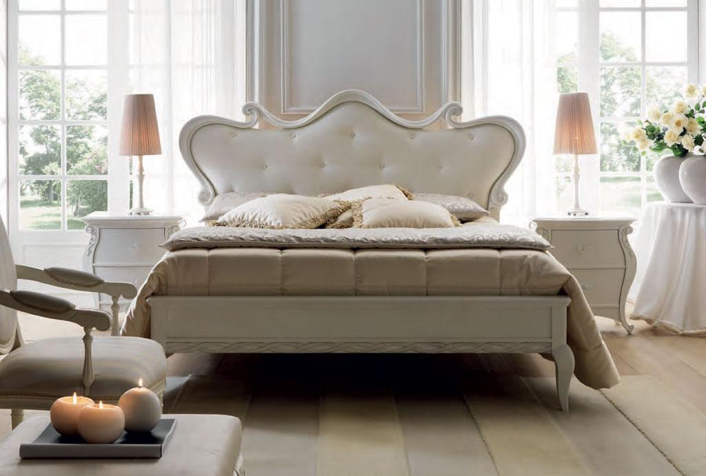pat dormitor tapitat lemn Eros Meteora Italia