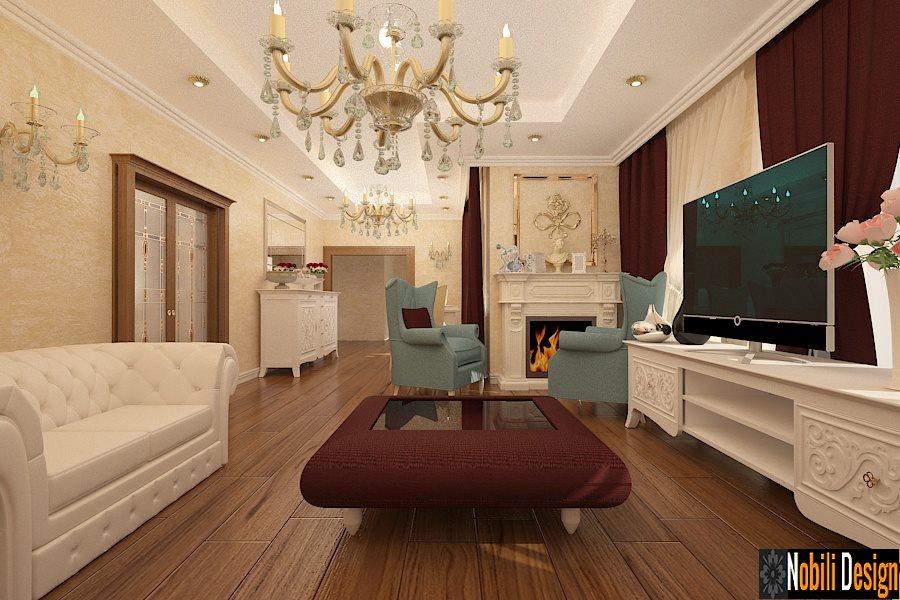 proiect - design - interior - living - clasic - bucuresti,