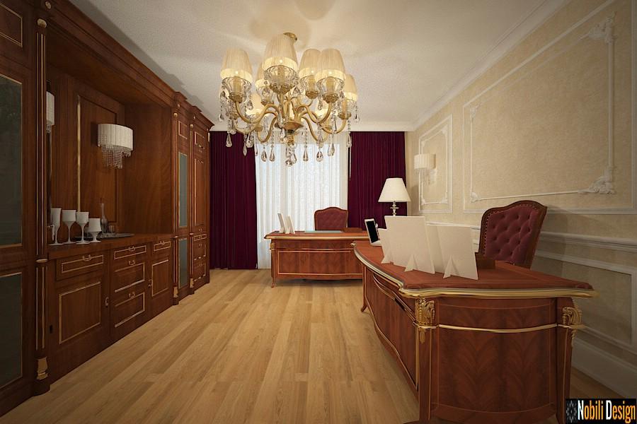 birou amenajat in stil clasic baroc | Amenajari interioare birou clasic baroc Ploiesti, Prahova.