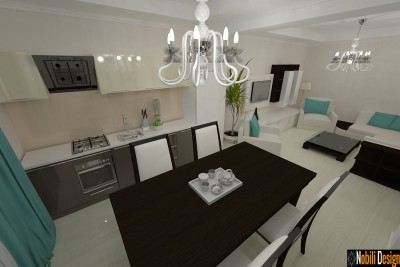 Design - interior - living - open - space - vila - Bucuresti