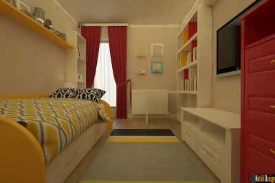 Design - interior - dormitor - apartament - bucuresti - sector 4.