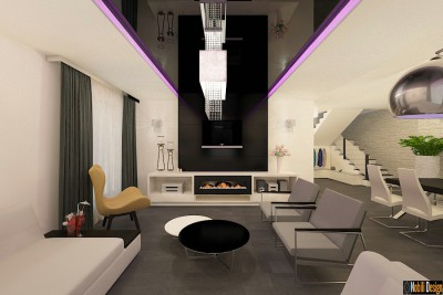 Design interior casa stil modern in Bucuresti