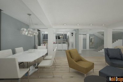 design interior bucatarie casa open space