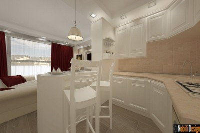 design interior bucatarie apartament in constanta
