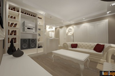 design interior living apartament clasic mobila italiana