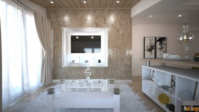 Design interior living apartament modern in Bucuresti