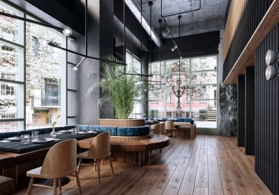 Design interior cafenea industrial loft - Nobili Interior Design