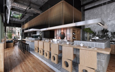 Design interior cafenea industrial loft (2)