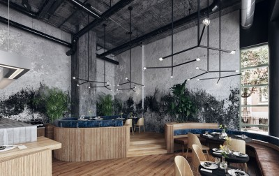 Design interior cafenea industrial loft (3)