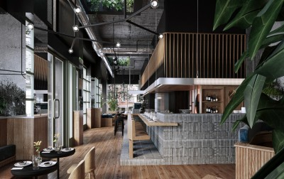 Design interior cafenea industrial loft (4)