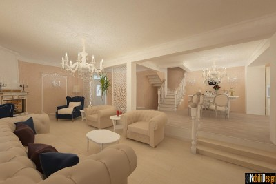 Design interior living casa stil clasic bucuresti (2)