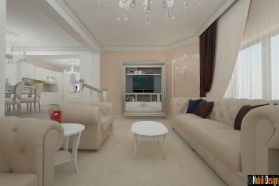 Design interior living casa stil clasic bucuresti (3)