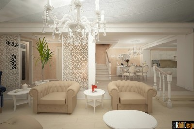 Design interior living casa stil clasic bucuresti (4)
