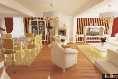 Design interior living clasic de lux - Designer interior Bacau